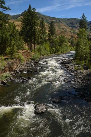 The Snake River at Copperfield Oregon by Hell's Canyon