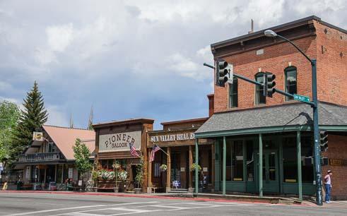 Streets of downtown Ketchum Idaho
