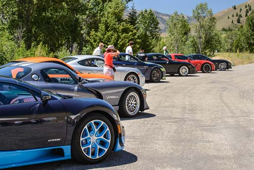 Bugatti Veyrons ready to race in Sun Valley Idaho