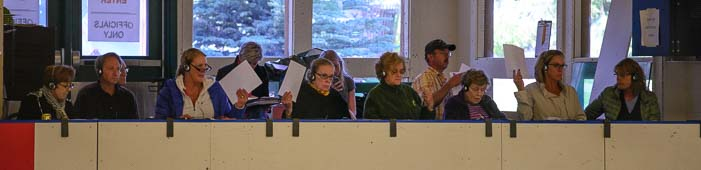 Judges at the Sun Valley Figure Skating Championships