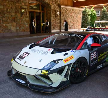 Lamborghini race car at Sun Valley Lodge