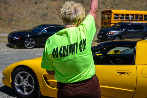 Go Granny Go Shirley Veine races her Corvette in Sun Vally Idaho