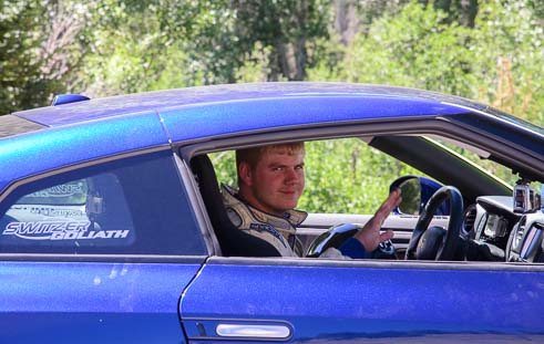 Josh Ramsey races a Nissan GTR in Sun Valley Idaho