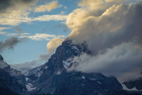 Mountain mist explosion at Grand Teton National Park in Wyoming