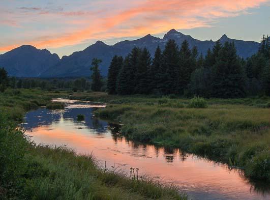 Sunrise at Shwabacher's Landing Grand Teton Wyoming-2