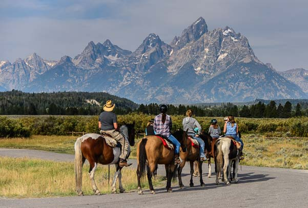 Horseback riders at Grand Teton National Park Wyoming