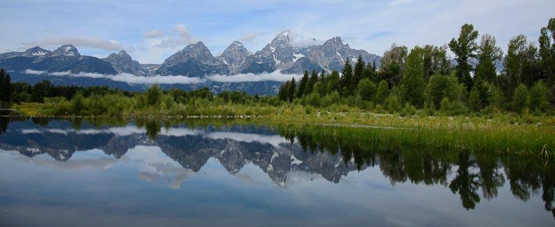 Teton Mountains at Shwabacher Landing Wyoming