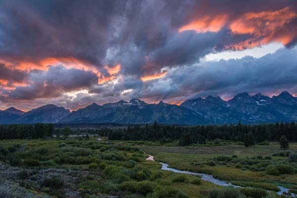 Wild skies in Grand Teton National Park Wyoming