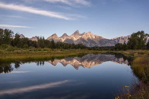 Still water and mountains Shwabacher's Landing Teton Mountains Wyoming