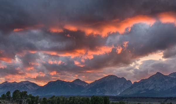 Sunset in Grand Teton National Park Wyoming