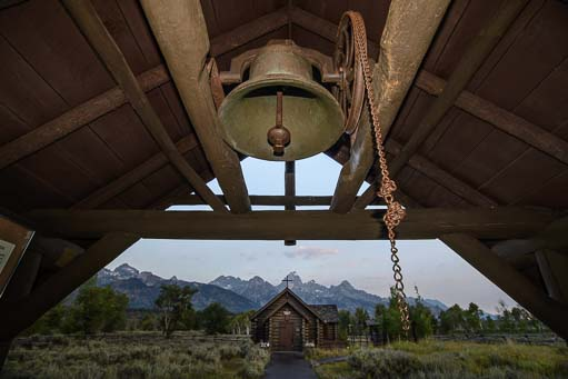 Church Bell Episcopal church in Grand Teton