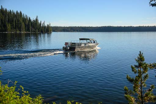 Jenny Lake ferry boat in the Tetons