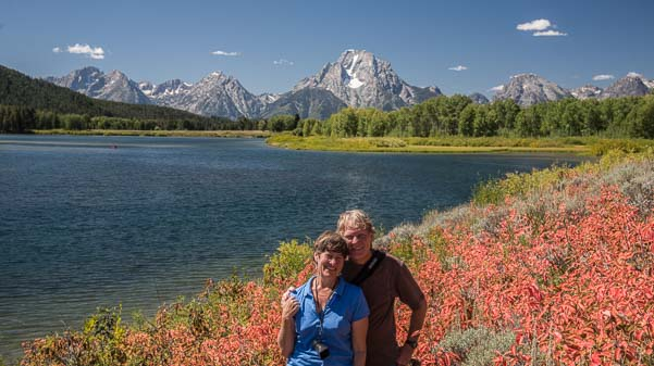 Happy campers at Grand Teton National Park in Wyoming
