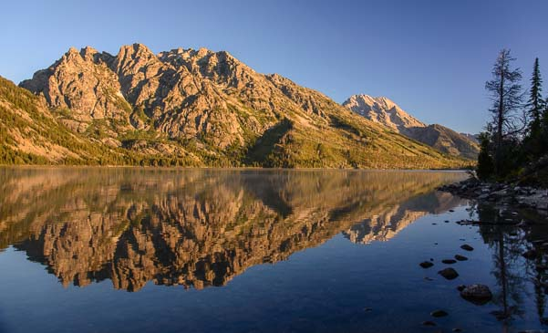 Mountain reflections in Jenny Lake
