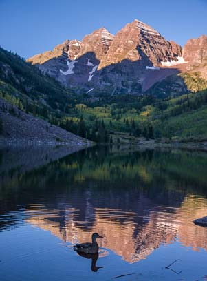 Maroon Bells sunrise in Colorado