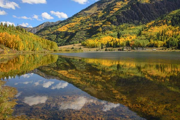 Reflections at Crystal Lake near Ouray Colorado_