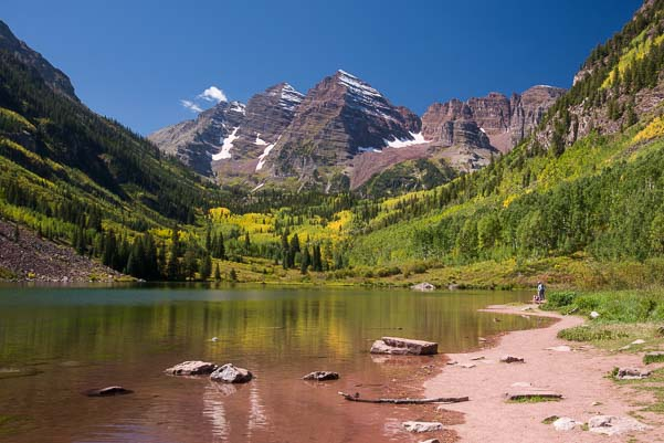 Maroon Bells Mountain and Lake in Colorado