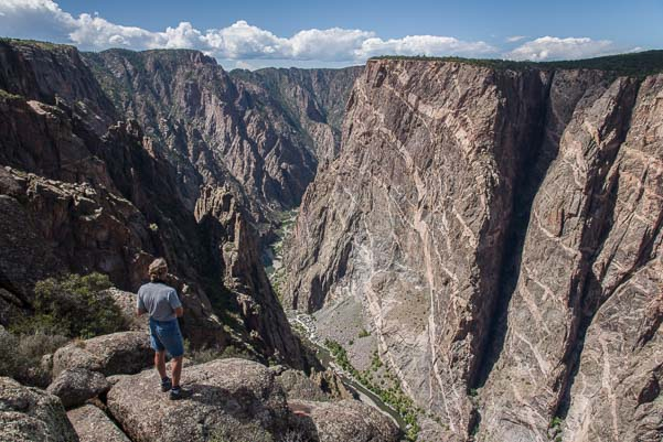 Craggy crevasse at Black Canyon National Park Colorado_