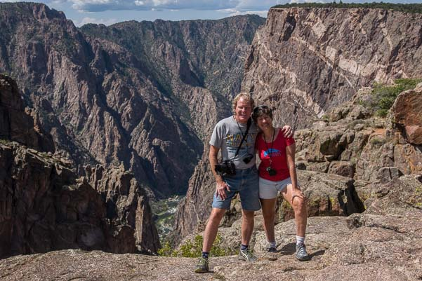 Happy campers on the north rim of Black Canyon of the Gunnison Colorado