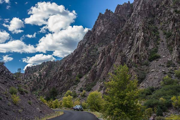 Towering peaks at Black Canyon National Park Colorado