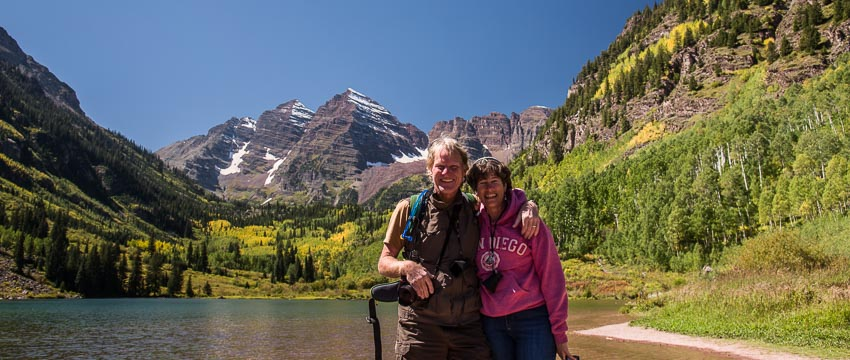 Selfie at Maroon Bells National Recreation Area Colorado