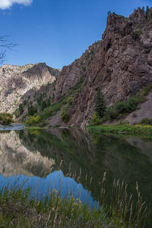 The Gunnison river at Black Canyon Colorado