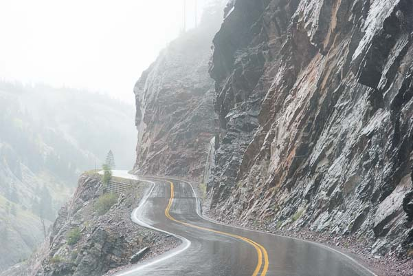Colorado Red Mountain Pass in the rain