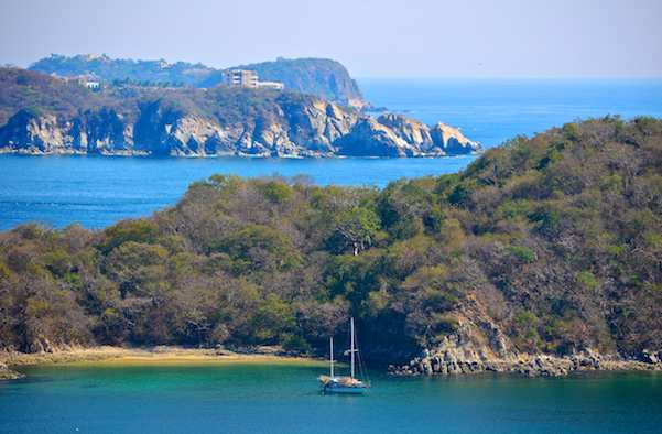 Santa Cruz Bay in the Bays of Huatulco Mexico