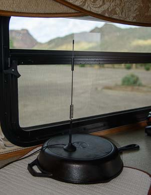 Wilson Antenna on a frying pan