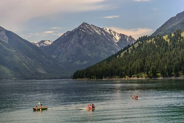 Kayaking at Wallowa Lake