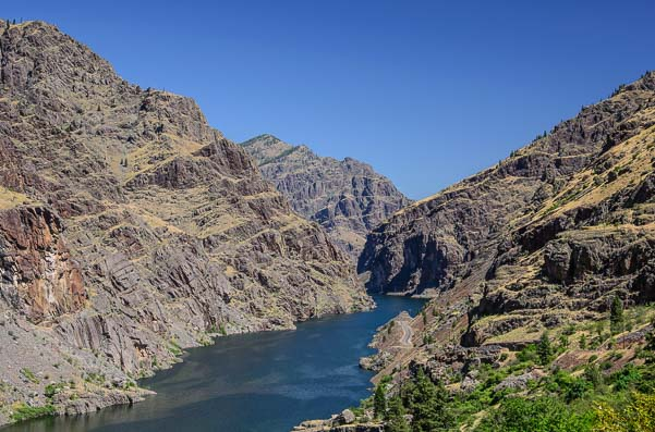 The Snake River at Hell's Canyon Oregon