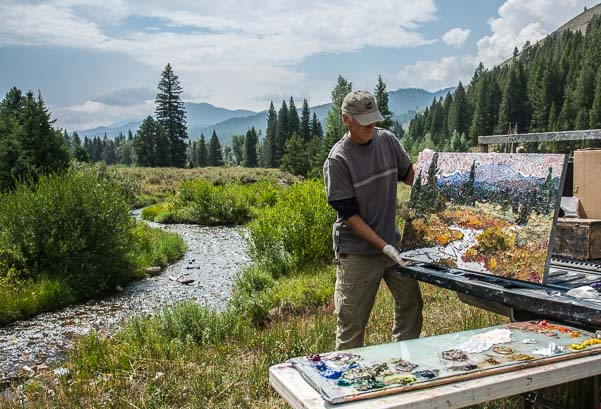 Sun Valley Idaho Pleine Aire artists painting in nature