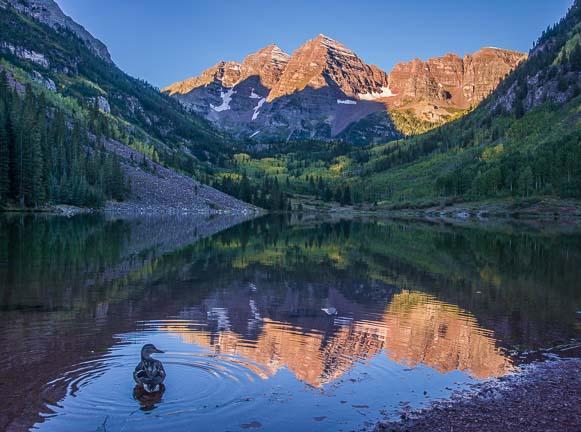 Hiking at Maroon Bells Colorado