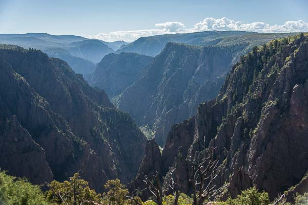 Camping at the Black Canyon of the Gunnison Colorado