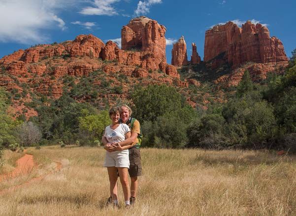 Happy campers at Cathedral Rock in Arizona