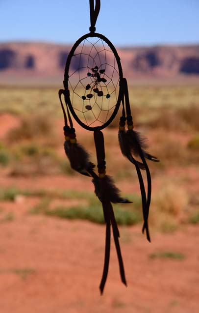 Navajo Indian Dreamcatcher in Arizona