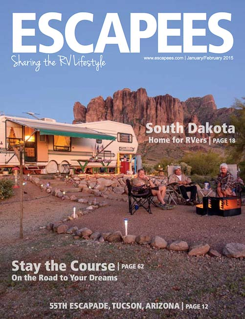 Escapees Magazine Cover Jan-Feb 2015