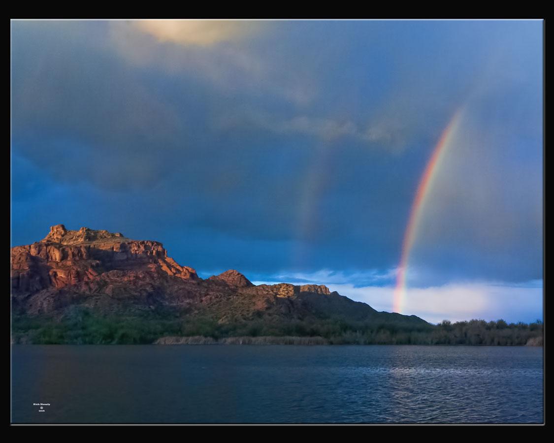 Rainbow Red Mountain Arizona Rick Henely Photographer