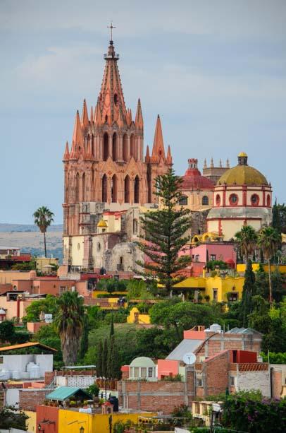 San Miguel de Allende Mexico Cathedral La Parroquia