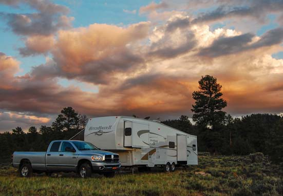 Free camping in an RV in Utah