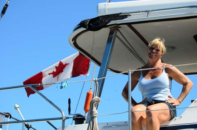 Pamela Bendall aboard Precious Metal