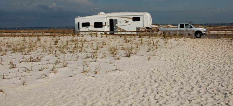 Free camping on the beach in Floria