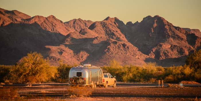 Boondocking in an RV in Quartzsite Arizona