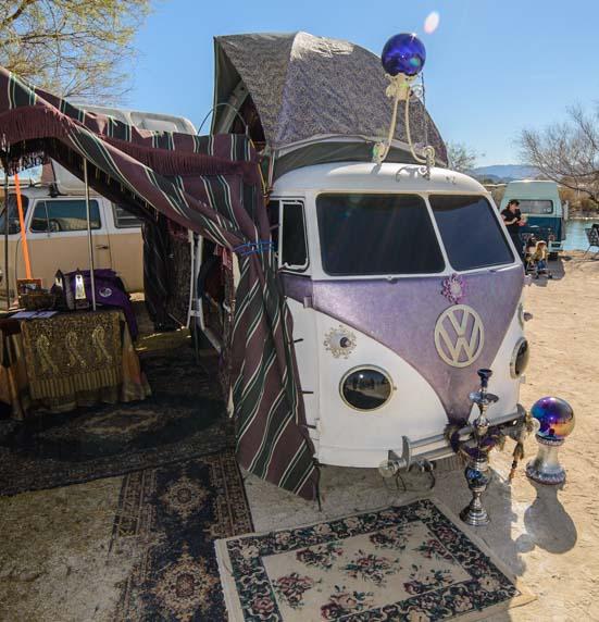 Groovy Lavender VW microbus
