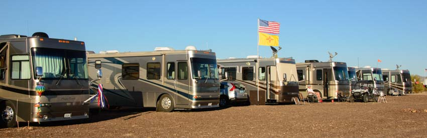 Alpine Coach Association motorhome Rally in Quartzsite Arizona
