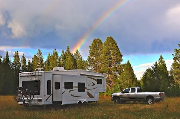 RV boondocking in Montana