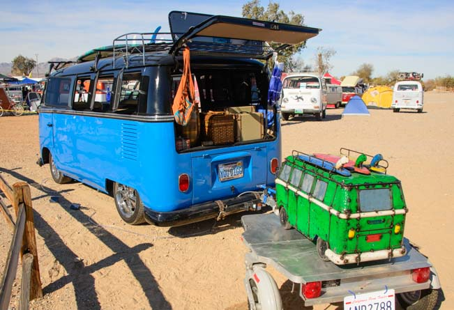VW Microbus towing a VW Microbus