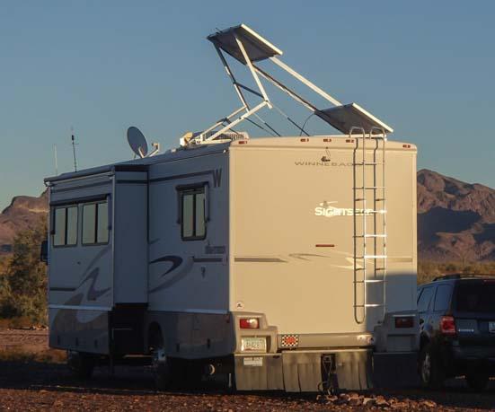 RV solar panel mounting system