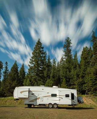 RV camping in the boondocks in Oregon