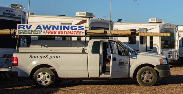 Mobile RV awning repair in Quartzite Arizona